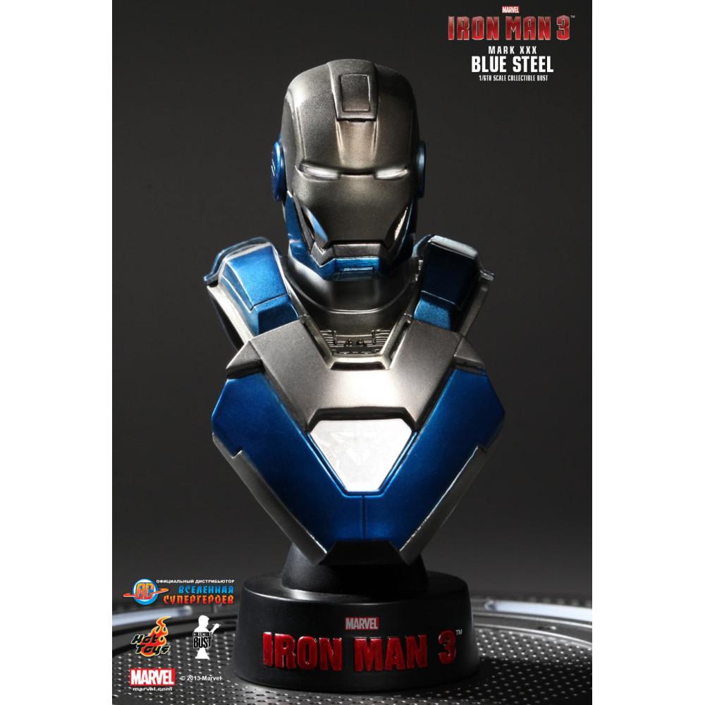 Коллекционный бюст Марк 30: Синяя Сталь - Железный Человек ...